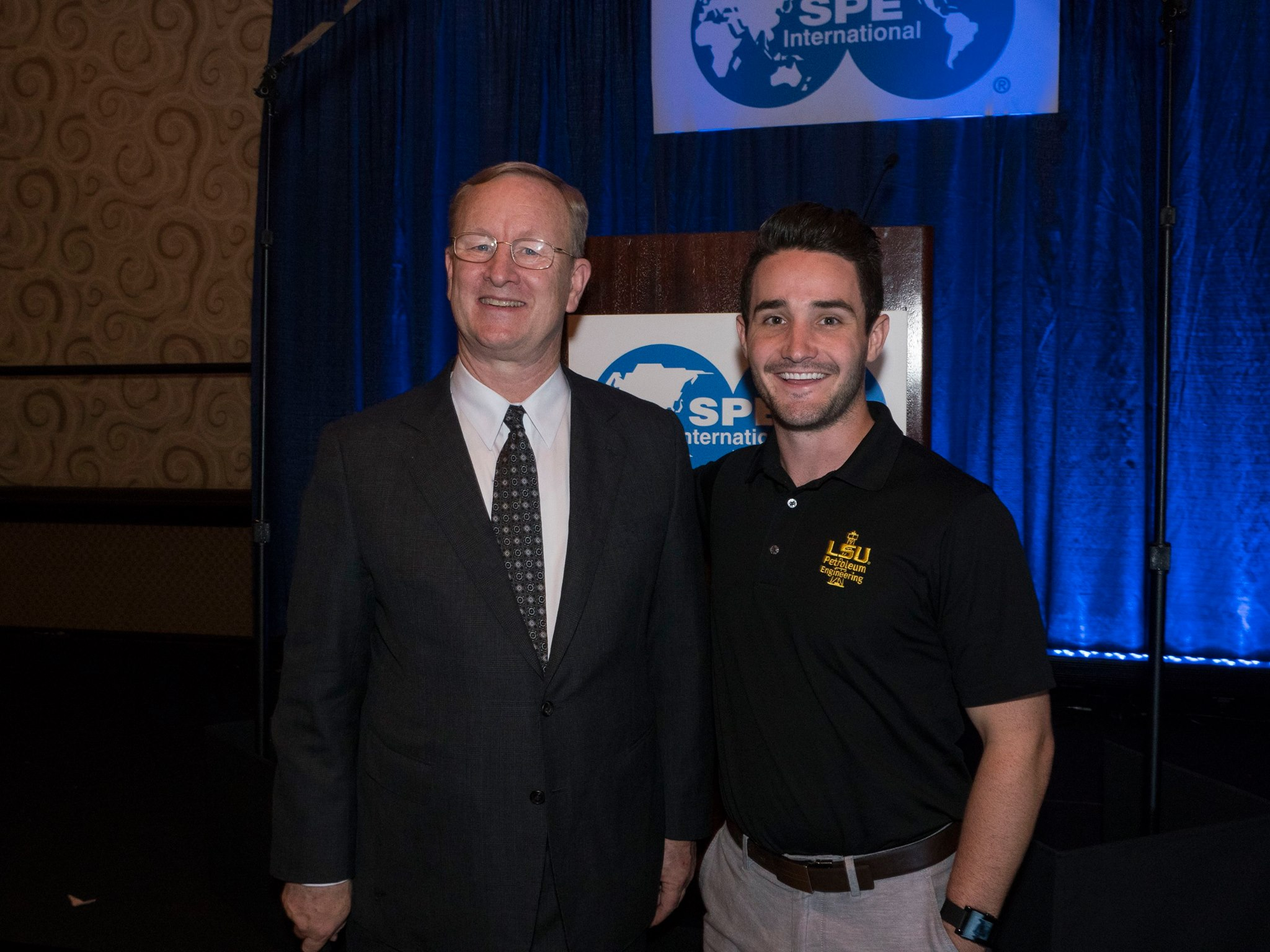 SPEI president Nathan Meehan and SPE LSU president Ty Nielson