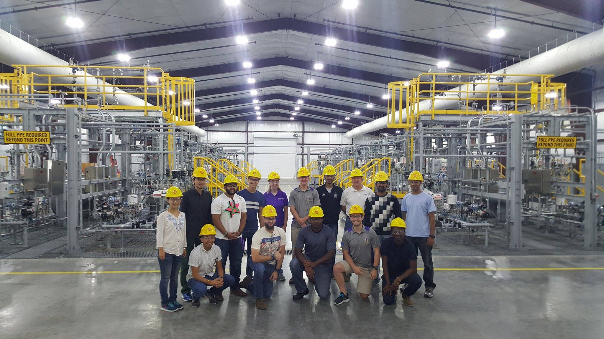 LSU SPE students visit the Shell Robert Training Center